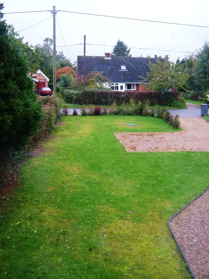 The front 'garden' before work started