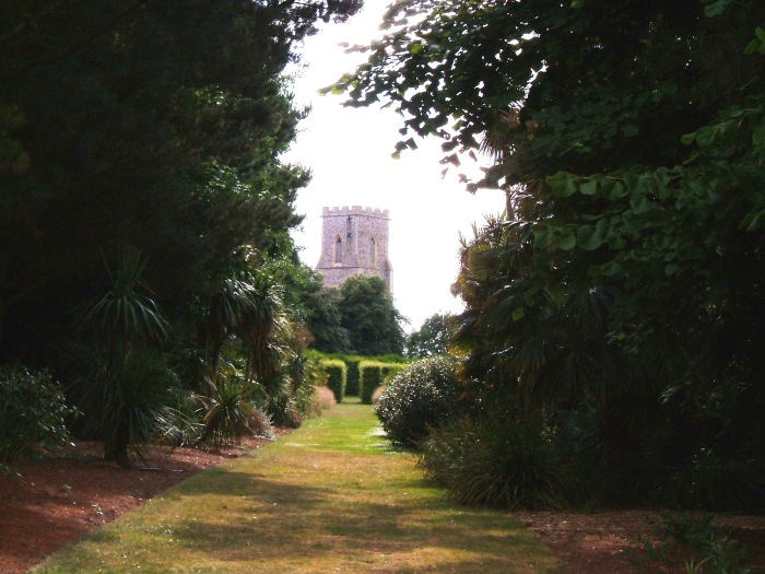 East Ruston Church in the distance