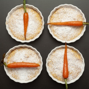 Real, caramelised carrots on Carrot Cake