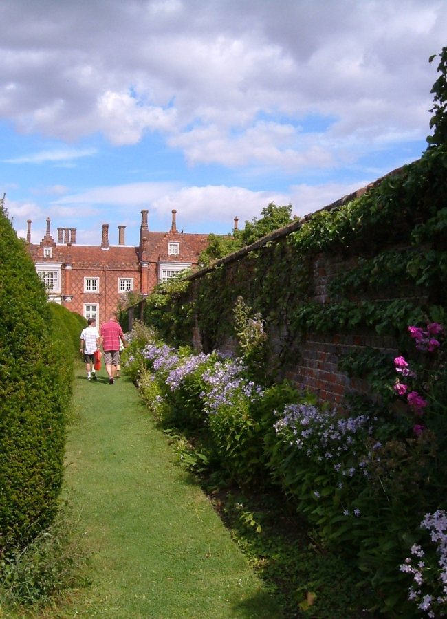 The outer wall of the Walled Garden, looking towards Helmingham Hall