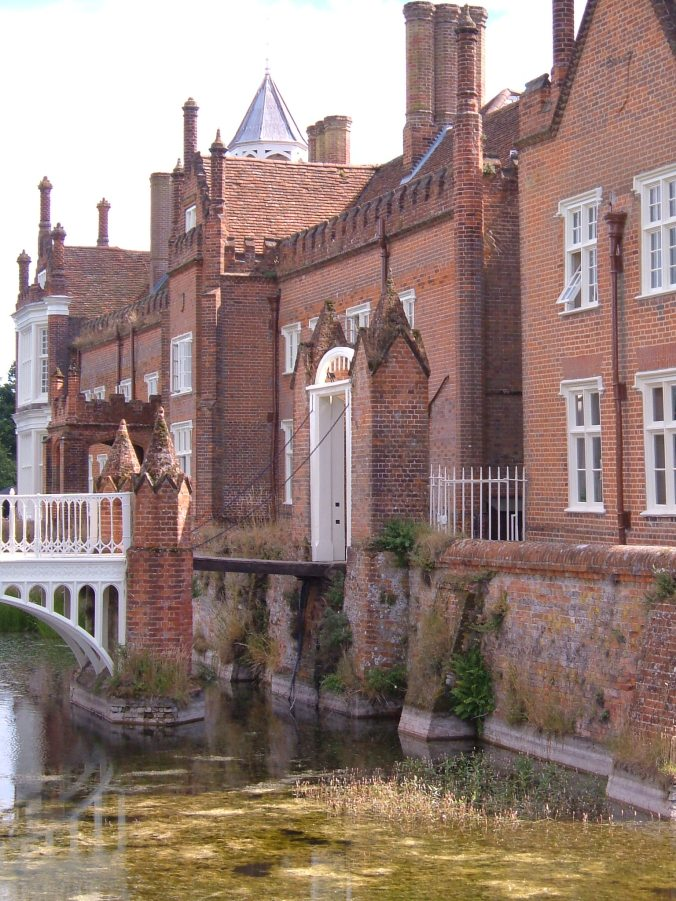Side bridge and drawbridge at Helmingham Hall