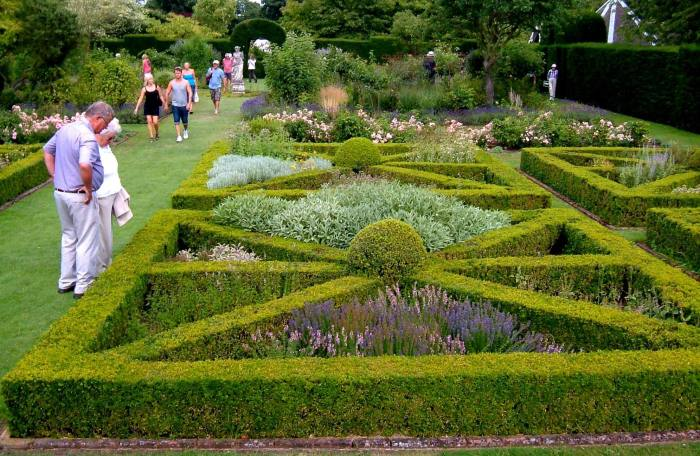 The herb, knot and rose garden