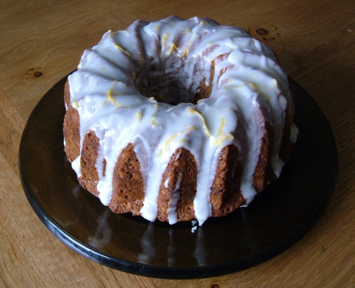 Carrot Cake with Lemon Glace Icing