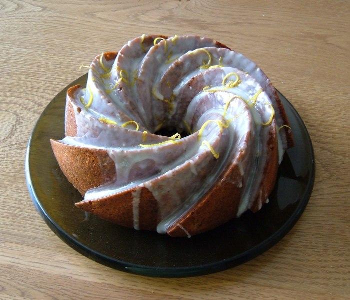 Lemon Poppy Seed Cake, from Delia Smith's 'Cakes'