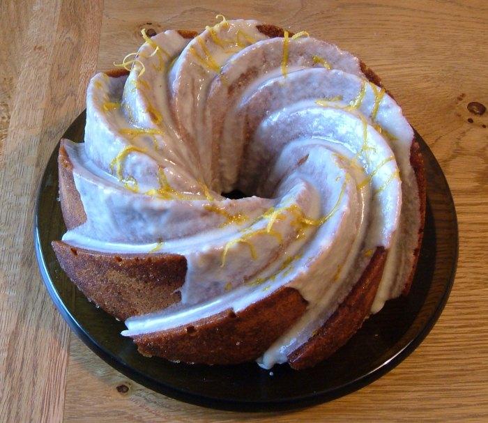 Sticky Lemon & Poppy Seed Cake, Dan Lepard's recipe