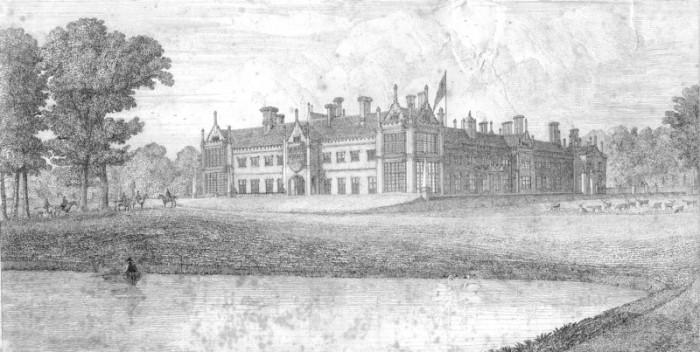 Helmingham Hall, c.1849