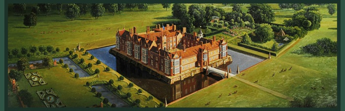 Helmingham Hall from the air