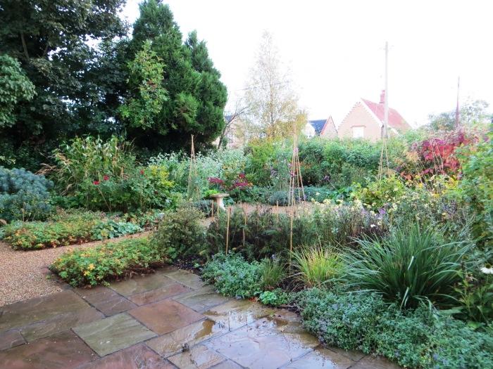 The front garden in October 2013