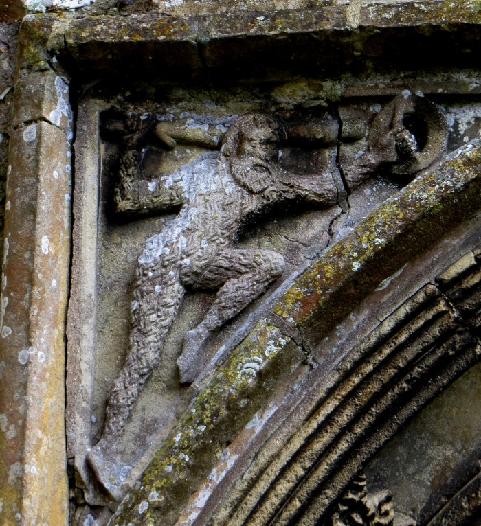 Green Man over the West Door of St Mary's Church, Cratfield