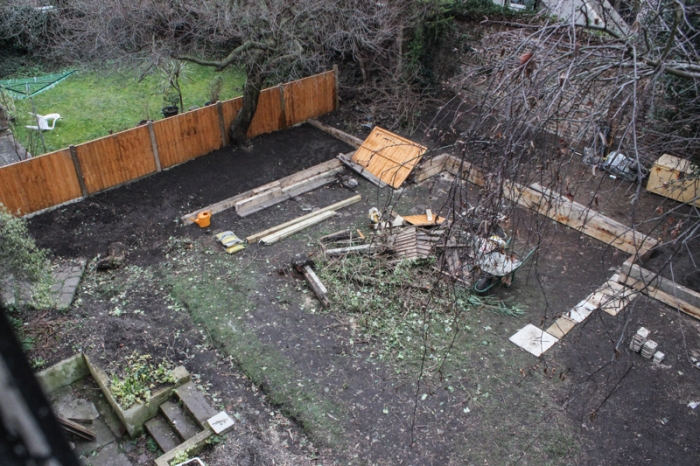 London garden makeover, new fence