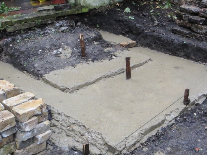 Base for steps into the 'fernery'