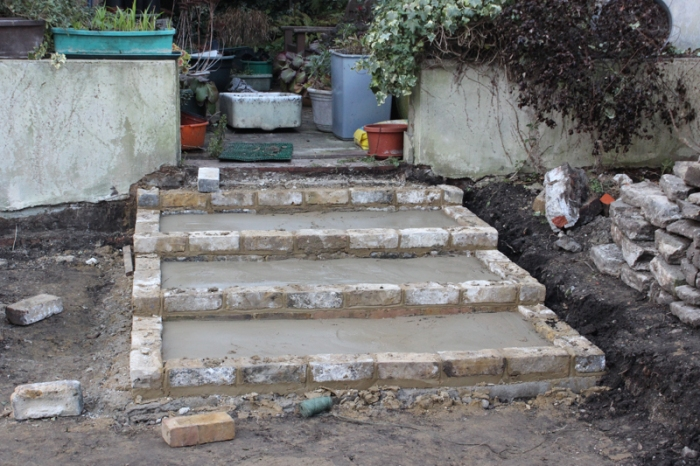 Steps into the 'fernery'