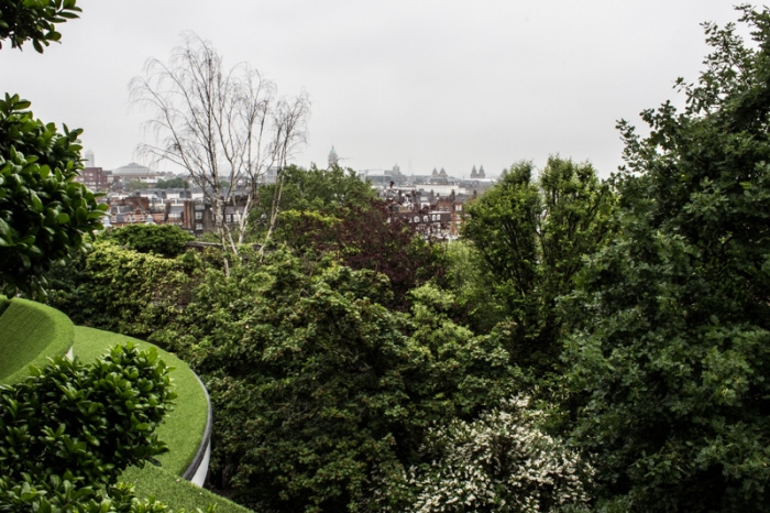 The view from the English Gardens