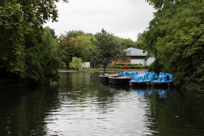 The lake in Southwark Park