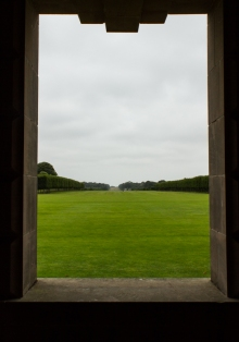 Looking down the Avenue at Houghton Hall