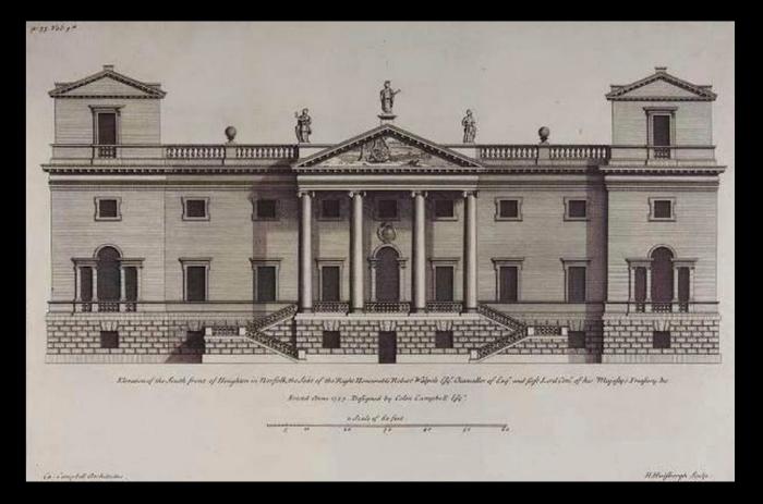 Houghton Hall original design (https://en.wikipedia.org/wiki/Houghton_Hall#/media/File:Houghton_Hall.jpg)