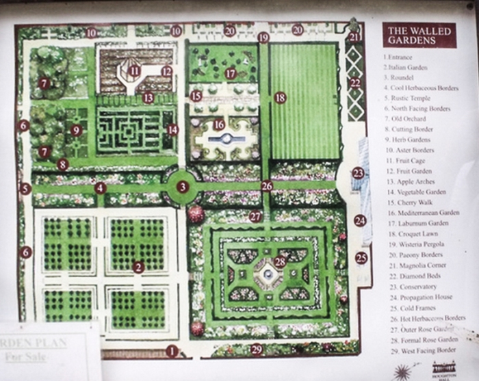 Houghton Hall Walled Garden Plan