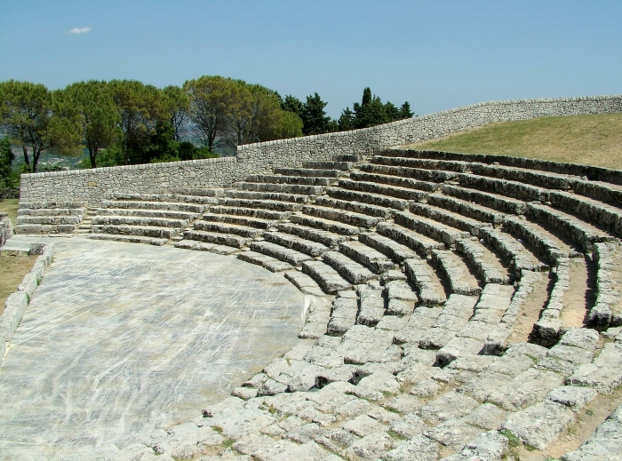 Greek Theatre, Akrai, Sicily (Wikipedia)