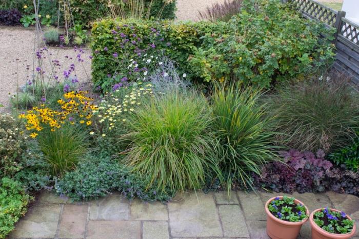 Part of the garden in Suffolk