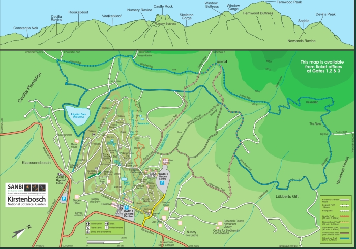Kirstenbosch Map