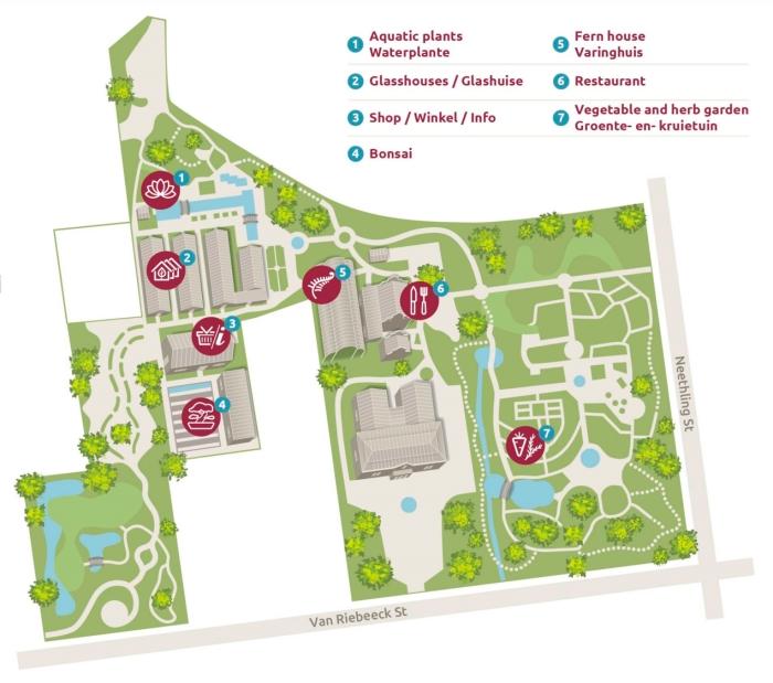 Stellenbosch Botanic Gardens (http://www.sun.ac.za/english/entities/botanical-garden/garden/garden-map)