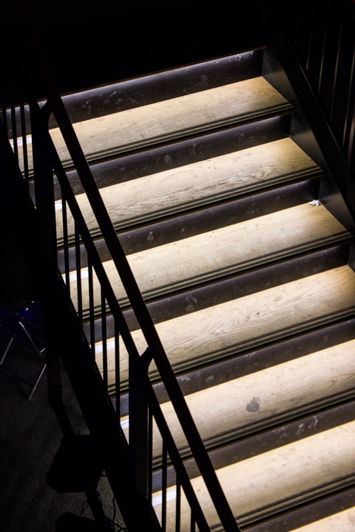 The stairway into the underground theatre at The Brunel Museum