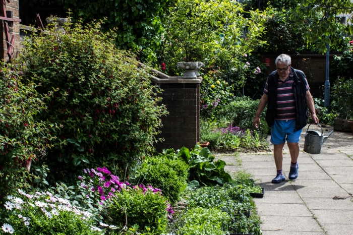 A determined gardener at Winterton House