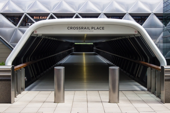 Crossrail Place at Canary Wharf