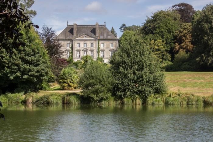 The Chateau de Foltiere in the Parc Botanique de Haute Bretagne