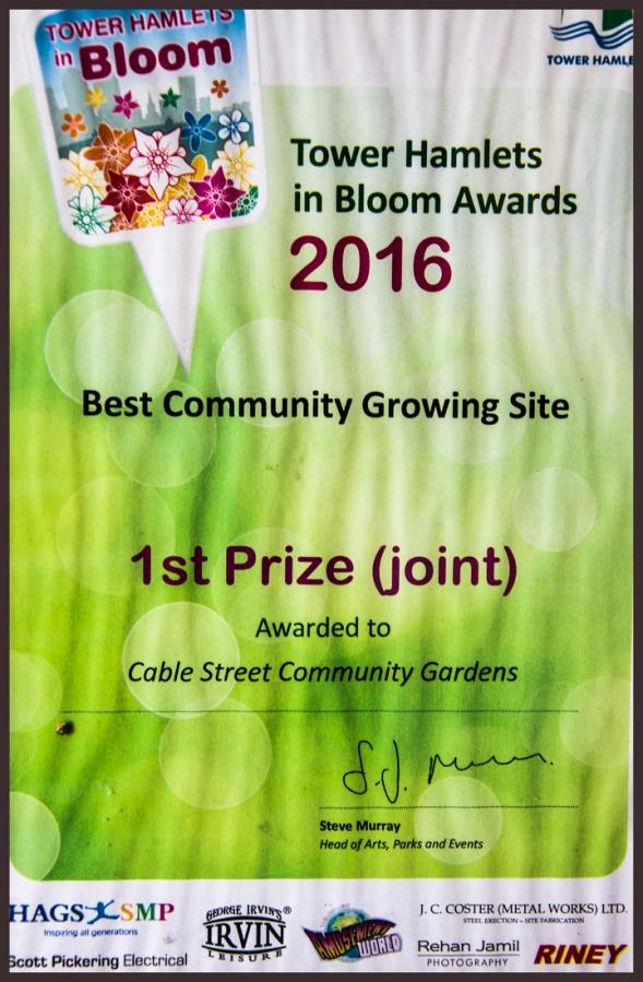 Cable Street award