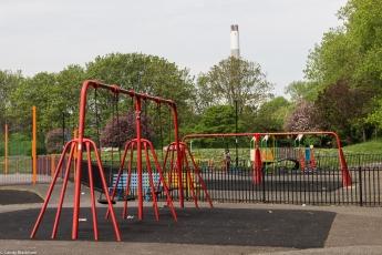 The children's play area in Folkestone Gardens