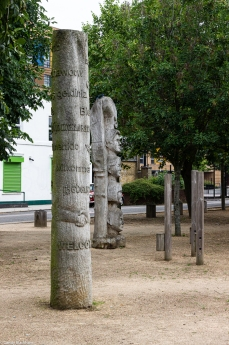 The Totem Poles alongside Angus Street