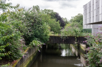 The bridge to the Stephen Lawrence Centre